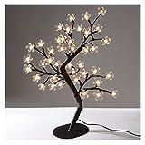 INHDBOX Cherry Crystal Flower Bonsai Tree Light,LED Flower Light Tree Desk Home Decorative,18inch 36 LEDS