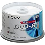 Sony - DVD-R (recordable), 16x, 50er Spindel mit 120 Minuten je DVD