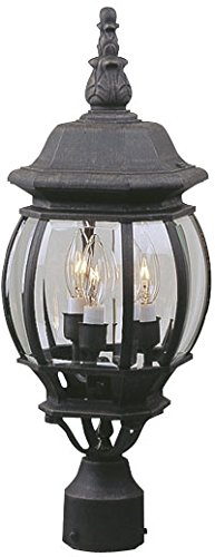 Craftmade Z335-05 Post Mount Lights with Beveled Glass Shades, - Post Mount Glass Beveled