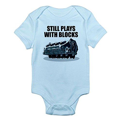CafePress Still Plays With Blocks - Che Infant Bodysuit - 0-3M Sky Blue