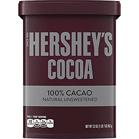 HERSHEY'S Natural Unsweetened 100% Cocoa, Baking/Beverage, Gluten-Free, 23 Ounce Can - Hot Chocolate With Cocoa Powder