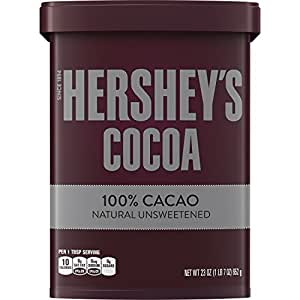 HERSHEY'S Natural Unsweetened 100% Cocoa, Baking/Beverage, Gluten-Free, 23 Ounce Can