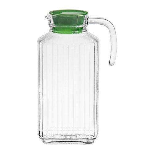 glass pitcher with cork lid - 7