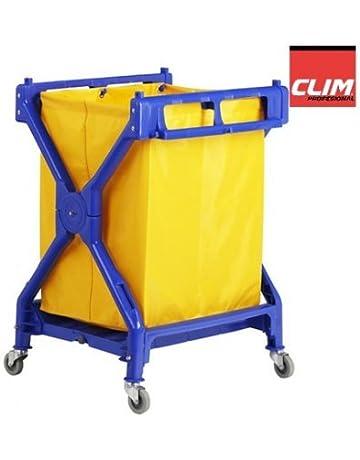 Clim Profesional Carro de lavandería Plegable Carro Plegable para Uso en lavandería, hospitales, hoteles