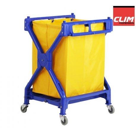 Clim Profesional Carro de lavandería Plegable Carro Plegable para Uso en lavandería, hospitales, hoteles, hostales o residencias. con Lona Resistente de 200 ...