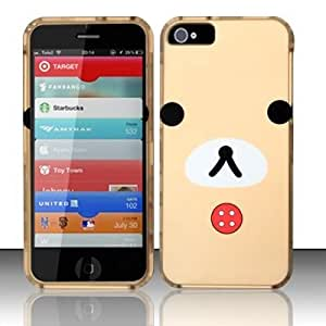 TEDDY BEAR Hard Plastic Design Matte Case for Apple iPhone 5 (6th Gen) [In Twisted Tech Retail Packaging]