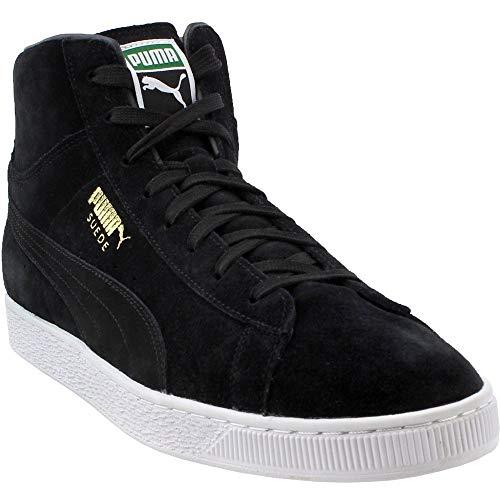 PUMA Men's Suede Classic Mid Sneaker,Puma Black/Puma White,9.5 M US