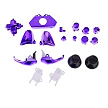 Set of 18 Replacement Controller Buttons Kit for Microsoft Xbox One Purple