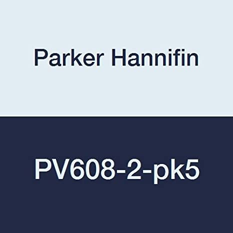 Parker Hannifin PV608-2-pk5 PV Series Plug Valve 1//8 Female Thread x 1//8 Male Thread Brass Pack of 5