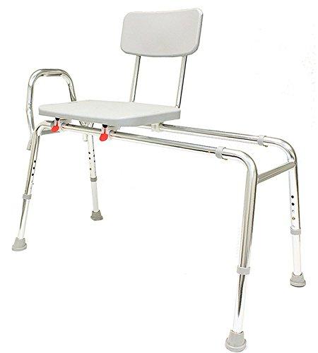 Sliding Bath Transfer Bench (77291) - Extra Long (Base Length: 48'' - 49'') - Heavy-Duty Shower Bathtub Chair - Eagle Health Supplies by Eagle Health Supplies (Image #1)