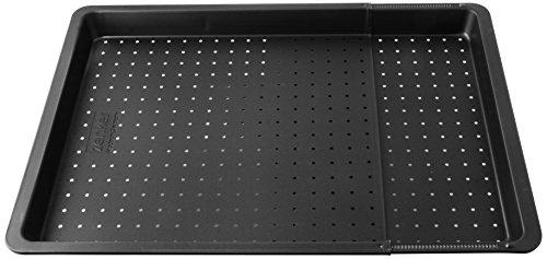 Zenker 6539 Herdbackblech ausziehbar, perforiert 370-520 x 330 x 30 mm, black metallic