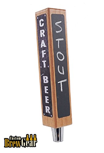 Beer Tap Handle Kit with Chalkboard and Dry Erase. DIY Kegerator Tap Handle