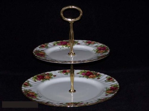 Royal Albert Old Country Roses Hostess Tray 2 Tier