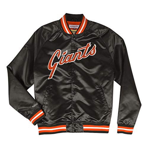 Mitchell & Ness San Francisco Giants MLB Men's Big Time Lightweight Satin Jacket ()