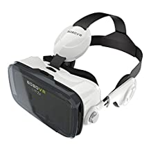 BOBOVR Z4 Xiaozhai Z4 VR Virtual Reality Headset 3D Glasses with Headphone for 4.0~6.0 Inches IOS Android Smartphones iPhone 6/6 plus, Samsung Galaxy S6 Edge+, Adjustable Focal Distance (Black+White)