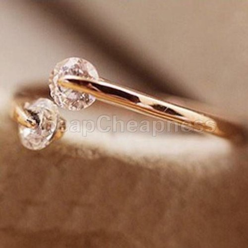Details about  /18k rose gold GP Crystal women Engagement stud earrings Free /& Fast Shipping