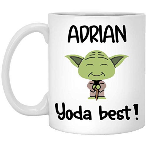 Cup Adrian (Personalized Coffee Mug - Adrian Yoda Best Gifts - Yoda Coffee Mug - Yoda Collectors - Yoda Best Mug - White 11-oz Tea Cups for Adrian)