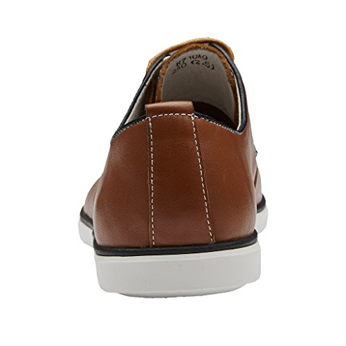 Zro Men S Leather Round Toe Oxfords Lace Up Casual Shoes