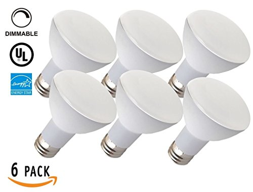 6 Pack 6 8W Dimmable BR20 Bulb