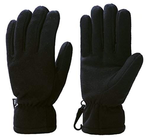 - Wantdo Men's Windproof Warm Skiing Gloves Outdoor Insulated Winter Fleece Gloves(Black, Large)