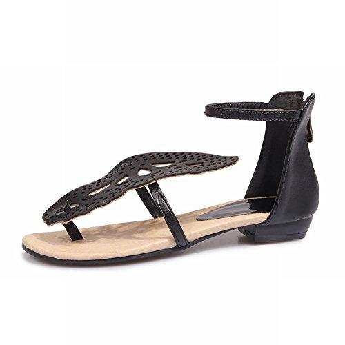 Dames Schouder Dames Sandalen Met Klinknagels Enkelriem Sandalen Zwart