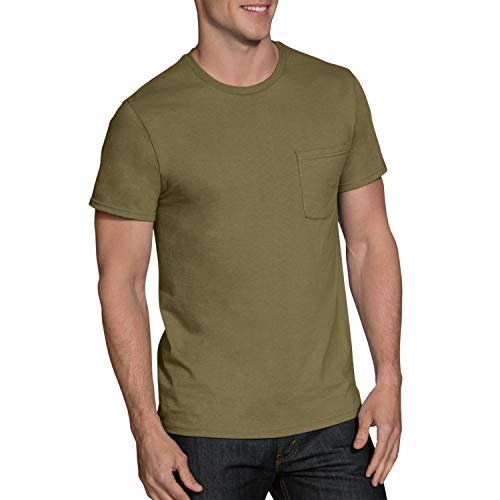 Fruit of the Loom Men's 5-Pack Assorted Pocket T-Shirt, Earth Tones, X-Large