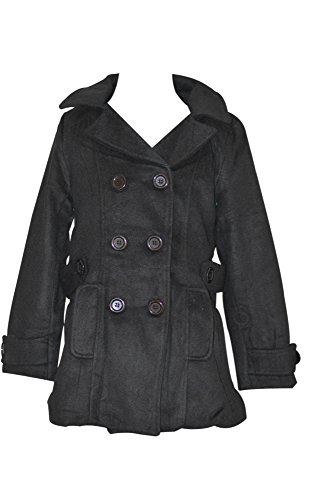 Coat for Girls with Hood (Size 11/12, Black)