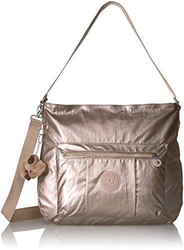 Kipling Carley Metallic Hobo Crossbody Bag, Sparklygld by Kipling