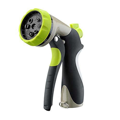Accreate Household Zinc Alloy Water Spray Nozzle Water Gun for Watering Plants & Washing Car & Pets Showering Practical Tool by Accreate
