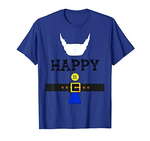 Happy Dwarf Halloween Costume (Happy Dwarf Halloween Costume Happy Dwarf Royal Blue T-Shirt)