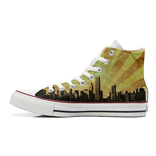 Converse Personalizzate Chicago Style Sneaker Hi All Unisex prodotto Canvas Artigianale Star drqzxdaAfw