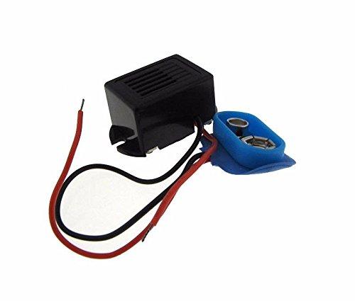 9VDC 連続ブザー 221614mm バッテリーホルダー付き   B07DCMP9PC