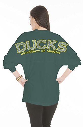 NCAA Oregon Ducks Women's Jade Long Sleeve Jersey, Medium, Forest Green