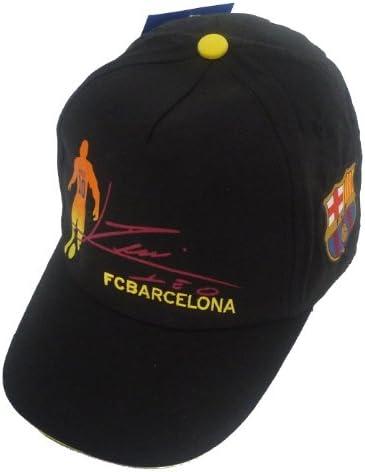 Barcelona F.C. - Gorra para niño, diseño silueta y firma de Lionel ...