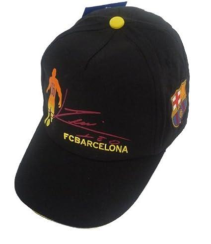 Barcelona F.C. - Gorra para niño, diseño silueta y firma de Lionel Messi (oficial