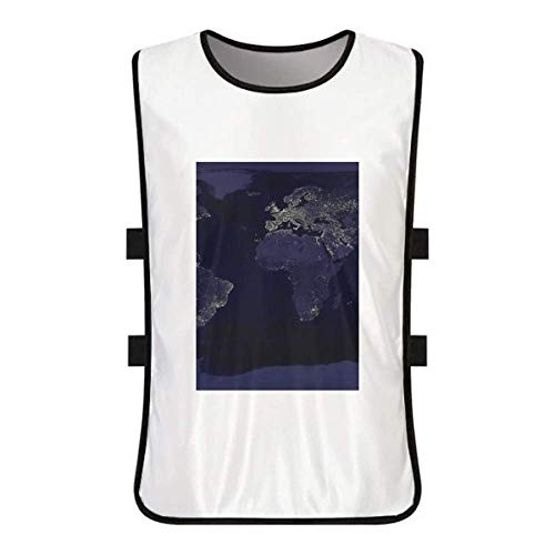 Mystery Space Planet Earth Aerial Map White Training Vest Jerseys Shirt Cloth