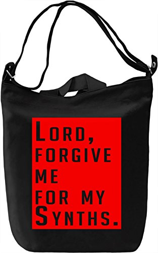 Forgive Me For My Synths Borsa Giornaliera Canvas Canvas Day Bag| 100% Premium Cotton Canvas| DTG Printing|
