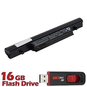 Battpit Bateria de repuesto para portátiles Toshiba Tecra R950-02T (4400 mah) Con memoria USB de 16GB GRATUITA