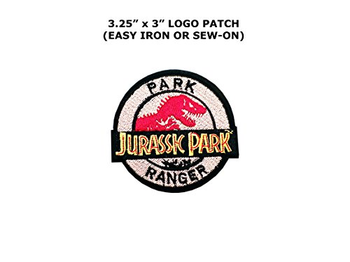 Jurassic Park Movie Park Ranger Cosplay Iron On Embroidered Patch ()