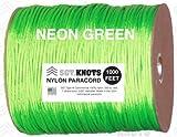 SGT KNOTS® Paracord – Neon Green – 1,000 Feet, Outdoor Stuffs
