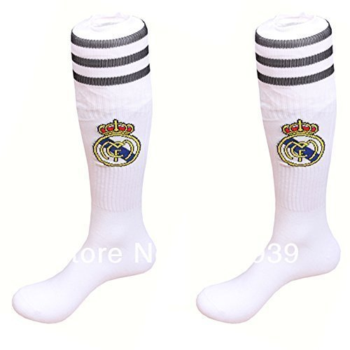Real Madrid Youth/kids Soccer Socks (White)