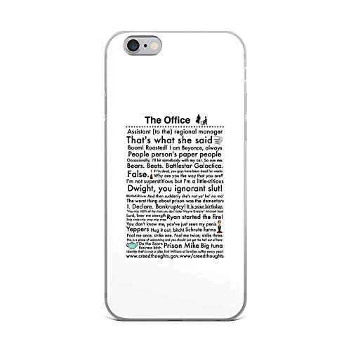 iPhone 6 Plus/6s Plus Pure Clear Case Cases Cover The Office's Most Famous Lines (Best Chat Up Lines Ever Funny)