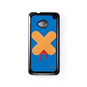 Ouch 3 Carcasa Protectora Snap-On en Plastico Negro para HTC® One M7 de Gangtoyz + Se incluye un protector de pantalla transparente GRATIS