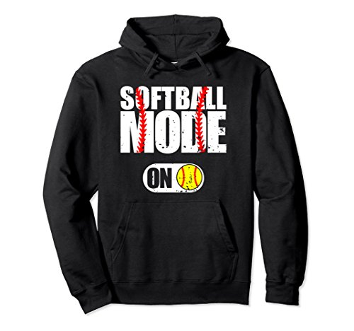 Unisex Funny Softball Mode On Fastpitch Player Gift Hoodie Small Black