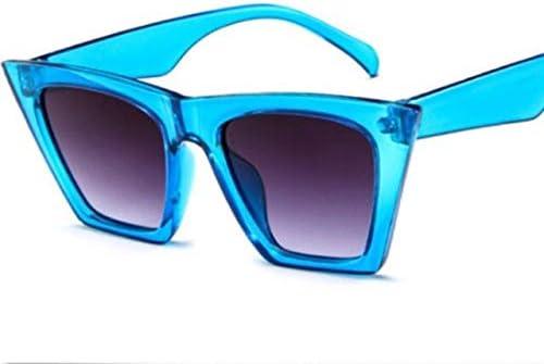 RJGOPL des lunettes de soleil Vintage retro feminino cat eye óculos de sol moda máscaras óculos de grandes dimensões popular cor lente olho de gato óculos senhoras moda uv400 Blue