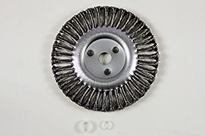 """8"""" Diameter Knotted Wire Wheel: 7/8ths Arbor with 5/8 and 1/2 Spacer Fits Billy Goat Grazor and Landshark, 6000 RPM"""