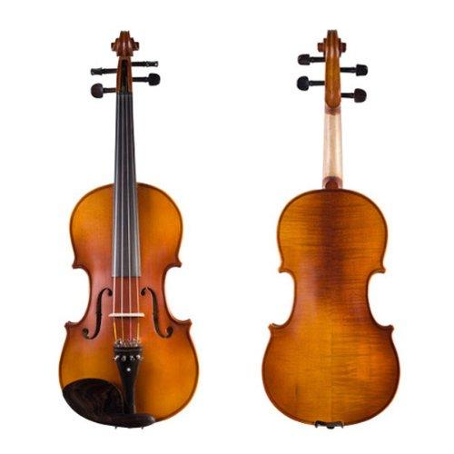 Cecilio CVA-500 15-Inch Ebony Fitted Solid Wood Viola