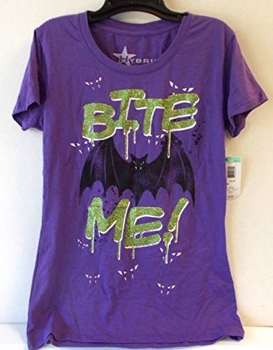 Shopko Halloween Bite Me T-Shirt Costume Girls Junior XL NWT