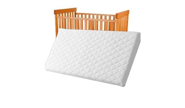 Colchón acolchado y transpirable para cuna de bebé, 89 x 38 x 4,5 cm: Amazon.es: Bebé