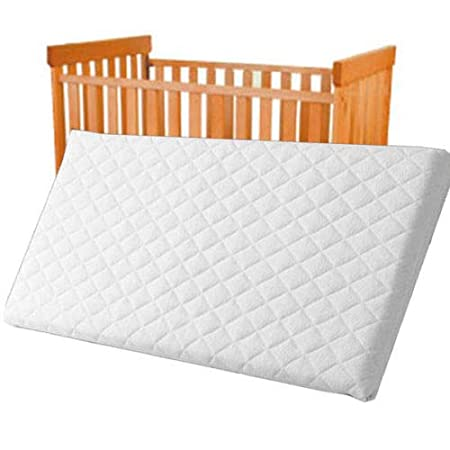 Baby Toddler COT Crib Bed Breathable Quilted and Waterproof Foam Mattress Crib Mattress Nursery Baby Breathable Waterproof Cradle Pram Swing 84 X 43 X 4 cm